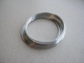 CE820300/6901- 8 meter aluminiumdraad (Wire&Wire draad) van 1mm dik zilver
