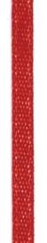 006302/0215- 4.5 meter satijnlint van 10mm breed op een rol rood