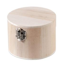 KN8735 418- 3 stuks houten kistjes met sluiting 11x8cm