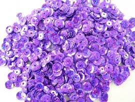 10gram facon pailletten van 6mm glitter violet (grote hoeveelheid!)