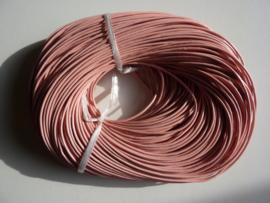 100 meter echt leren veter roze van 2mm dik - AA kwaliteit - SUPERLAGE PRIJS!