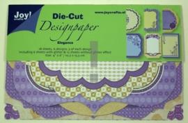 JOY8011/0512- 18 stuks Die-Cut design elegance 10.2x15.3xm