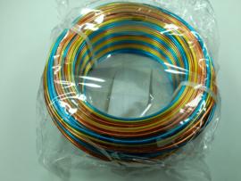 55 meter aluminiumdraad (Wire&Wire draad) van 2mm dik overlopend regenboog kleuren - extra goedkoop