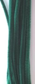 CE800700/7105- 20 stuks chenille draden van 30cm lang en 6mm dik groen