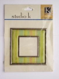 5641- K&Co metal`art lijstje 7x7cm