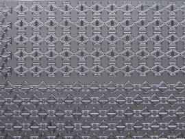 st 358- randje hoekig zilver 10x20cm