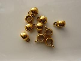 CH.1043- 10 stuks zwaar metalen aanhangkralen 11.5x8mm goudkleur - SUPERLAGE PRIJS!