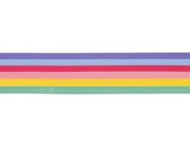 8306 064 - 30 x versierwas stroken 1mm pastel regenboog