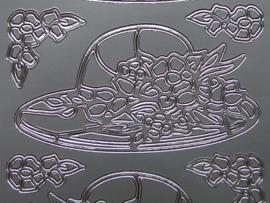 349- dames hoed zilver 10x20cm