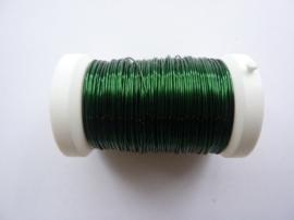006466 451- 50 meter glanzend metaaldraad 0.50mm donker (smaragd) groen