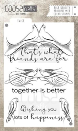 CE130630/1031- Coosa Crafts clearstamp A6 -  friends