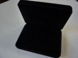 juwelendoos cadeaudoos zwart velours 18x12.5cm - SUPERLAGE PRIJS!