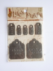 5645- K&Co lifes journey zwaar metalen labels