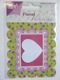0002391- Joy Crafts stencil foam Flourishes hart - OPRUIMING