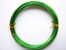 6 meter aluminiumdraad (Wire&Wire draad) van 1.5 mm dik groen