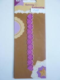 0002458- Joy Crafts stencil sierrand 14.5x1.6cm OPRUIMING