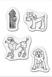 CE001883/3504- clear stamp honden 8x11cm