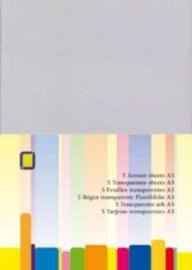 CE115632/1015- 5 stuks transparante sheets plastic mica A3