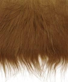 8410 925- lap van 14x20cm pluche / imitatie bont langharig bruin