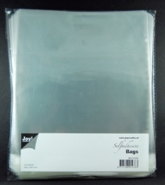 JOY8001/0360- 100 stuks kaartenzakjes zelfklevend 180x180mm