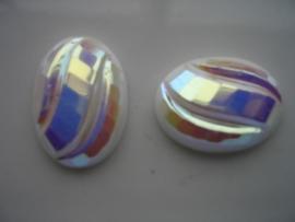 2 x glasstenen 25x18mm 5112-699