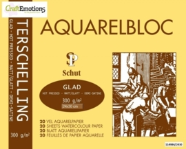 CE114984/2430- 20 vel Schut Terschelling aquarelbloc glad 300grams 24x30cm