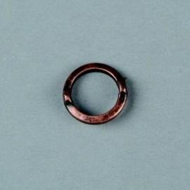 10 x metalen ringen met 2 ogen koper 14mm 117465/1610