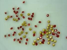 000569-B- 50 x strass steentjes met punt achterkant SS6-2mm rood