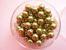 50 x ronde glasparels in een doosje 6mm mosgroen - 2219 640