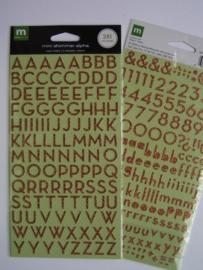 5356- Making M glitter alfabet stickers 2 vellen met totaal 281 stickers