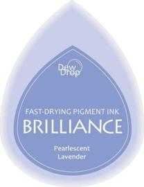 132019/1037- brilliance stempelkussen dew drops pearl lavender 3.5x5cm