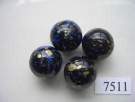 7511- 18mm zwarte kunststofkraal