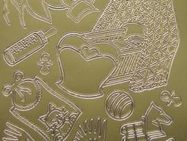 266- diverse afbeeldingen goud 10x20cm