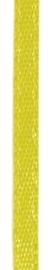 006302/0205- 4.5 meter satijnlint van 10mm breed op een rol geel