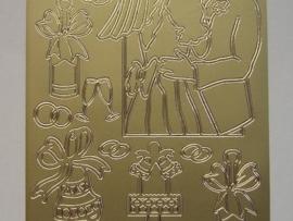 ST-208- diverse afbeeldingen goud 10x20cm