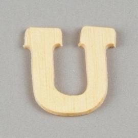 006887/1406- 2cm houten letter U