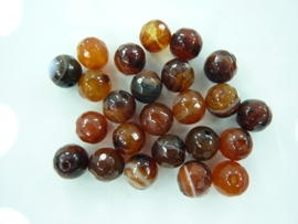 3259 - 25 stuks naturel agaat kralen 8mm facet geslepen gemstone