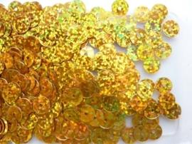 118372/464- 10gram gladde pailletten van 8mm in glitter goud/geel (grote hoeveelheid!)
