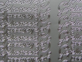 st512- gefeliciteerd zilver 10x20cm