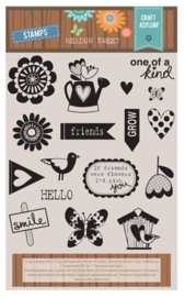 CE117012/0003- Craft asylum meadow sweet clearstamps
