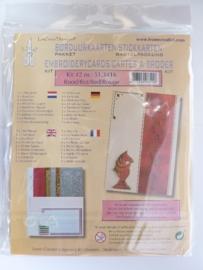003004- Leane borduurkaarten pakket rood OPRUIMING