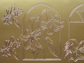 596- diverse condolatie afbeeldingen goud 10x20cm