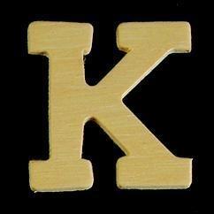 8735 617- 4cm houten letter K