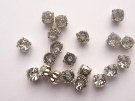 CH.001- 20 stuks rijgstrass / naaistrass van 5mm kristal