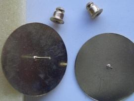 5985- platte oorstekers 25mm goudkleur