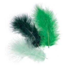 006619/0944- 15 stuks verenmix maraboe groen van 10cm