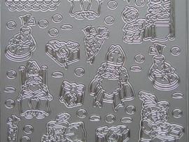 st 397- sinterklaas zilver 10x20cm