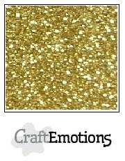 CE001290/0155- 5 vellen glitterpapier 120grams 29x21cm goud