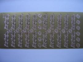 st 582- van harte beterschap goud 10x20cm