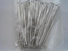 ca 100 x nietstiften 45mm staalkleur 10317/4501